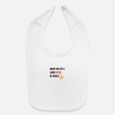 Large Large pizza - Baby Bib