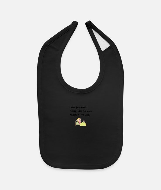 Sleep Baby Clothing - Sleep is for the weak or sleep for a week - Baby Bib black