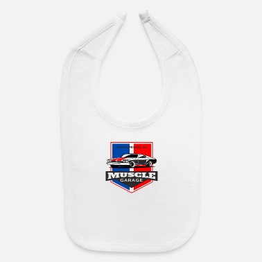 Muscle Muscle Car Garage - Baby Bib