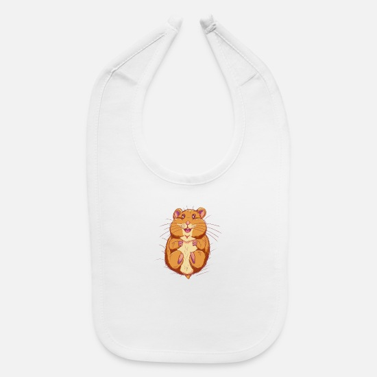 Youtube Baby Clothing - Queenie the Hamster - Baby Bib white