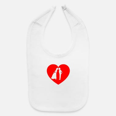 Couples Couple in heart - Baby Bib