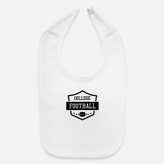 Shield Baby Clothing - Shield college football funny - Baby Bib white