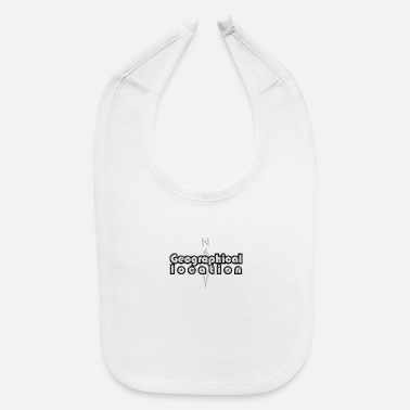 Geographic Geographical Location - Baby Bib