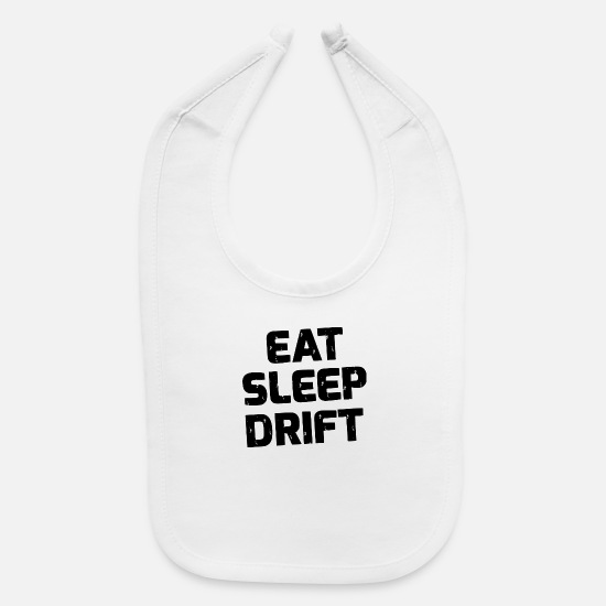 Wheel Baby Clothing - EAT SLEEP - Baby Bib white