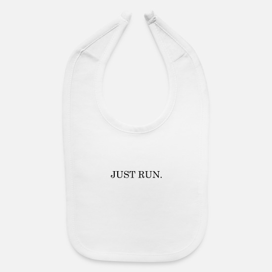 Trend Baby Clothing - Just Run - Baby Bib white