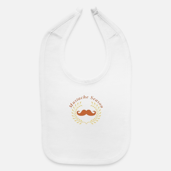 Seasonal Baby Clothing - Season Mustache - Baby Bib white