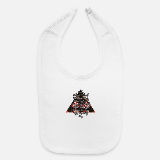Black Baby Clothing - DST Founders Design with Pyramid - Baby Bib white
