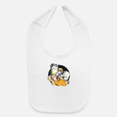 Cartoon Dentist Preforming Root Canal - Baby Bib