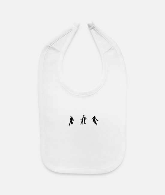 Basketball Player Baby Bibs - Players - Baby Bib white