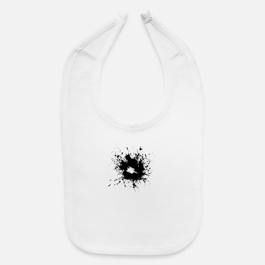Paint Brush paint brush splatter - Baby Bib