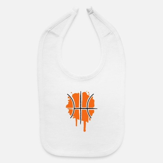 Graffiti Baby Clothing - Basketball graffiti - Baby Bib white