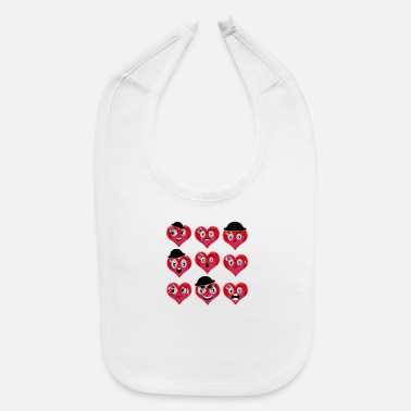 LOVE SMILEYS - Baby Bib