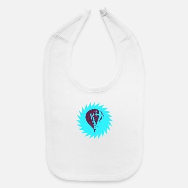 Stencil Stencil Pop Art Ballon (coloured) - Baby Bib