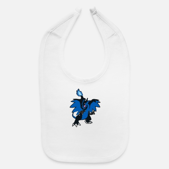 Game Baby Clothing - Dragon Blue - Baby Bib white