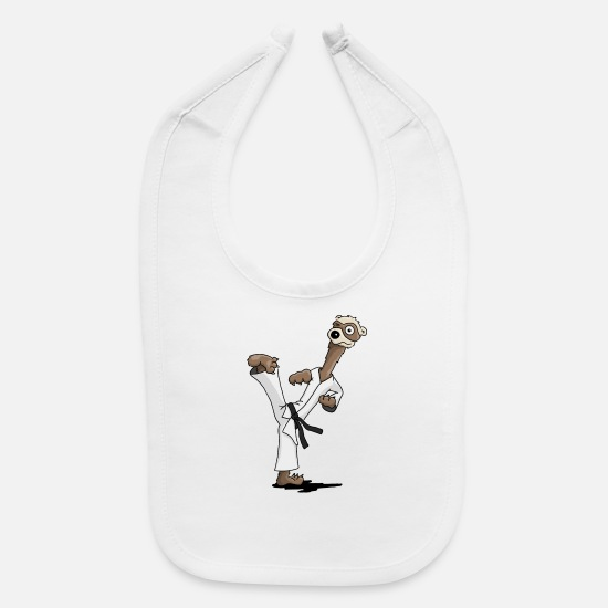 Tae Kwon Do Baby Clothing - kicking ferret martial arts kickboxing taekwondo - Baby Bib white
