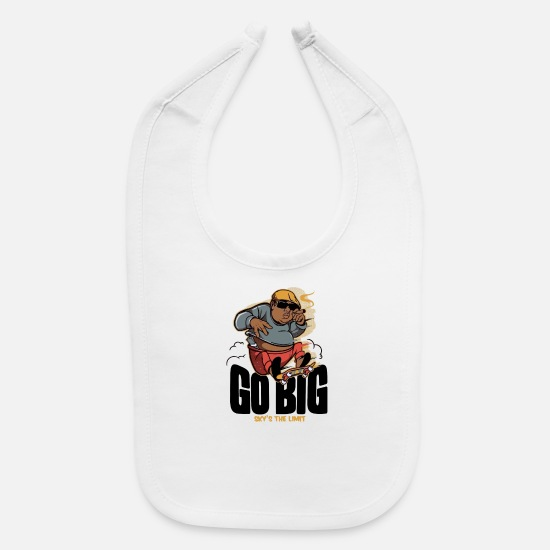 Big Ben Baby Clothing - Go Big - Baby Bib white