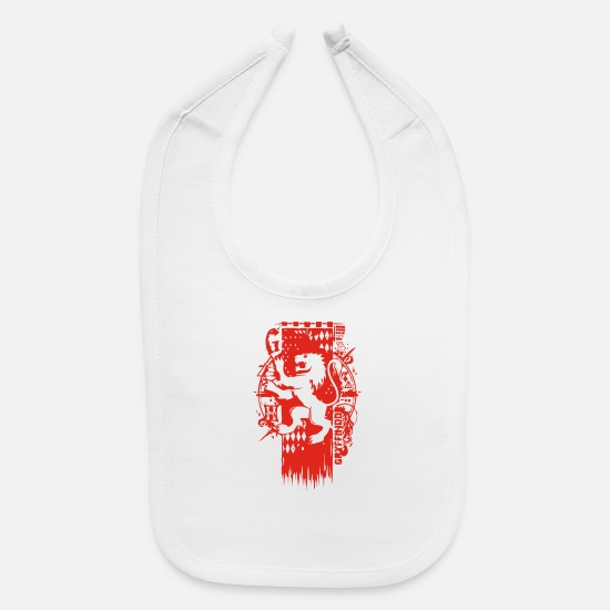 Crest Baby Clothing - LION CREST - Baby Bib white