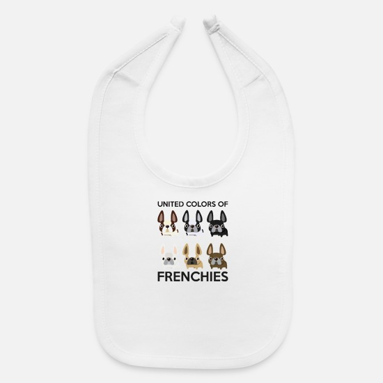Game Baby Clothing - United Color Of Frenchies - Baby Bib white
