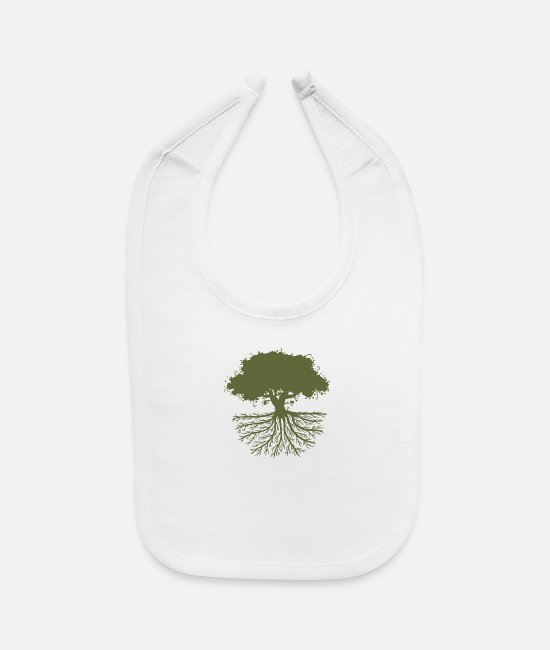 Trees Baby Bibs - Tree Roots - Baby Bib white