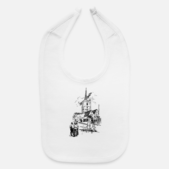 Pope Baby Clothing - god gott church kirche bible bibel wedding hochzei - Baby Bib white