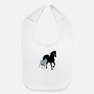 Mare mare with foal - Baby Bib