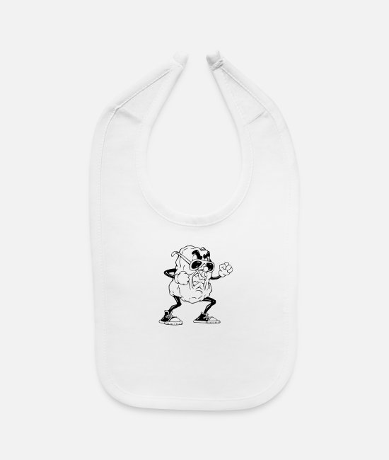 Riled Baby Bibs - Angry raisin - Baby Bib white