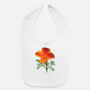 Orange California Poppy - Baby Bib