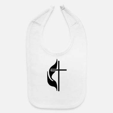 Methodist Cross Methodist Cross and Flames - Baby Bib