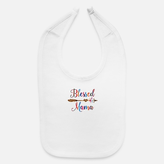 Blessed Baby Clothing - Blessed Mama - Baby Bib white