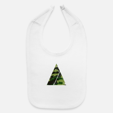 Super Triangle camouflage pattern with horizontal stripe - Baby Bib