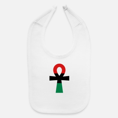 Red Black And Green Red, Black & Green Ankh - Baby Bib