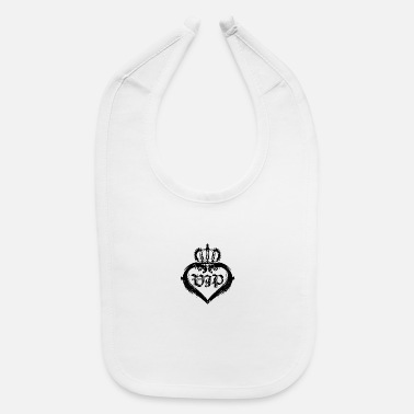 Vip VIP Heart Lady Crown V.I.P Grunge Look Gift Idea - Baby Bib