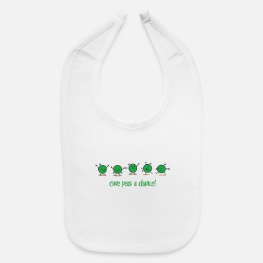 Give Give peas a chance! - Baby Bib