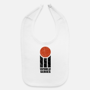 World WORLD SERIES CRICKET LOGO RETRO - Baby Bib