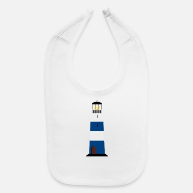 leuchtturm lighthouse coast kueste ocean sea meer1 - Baby Bib