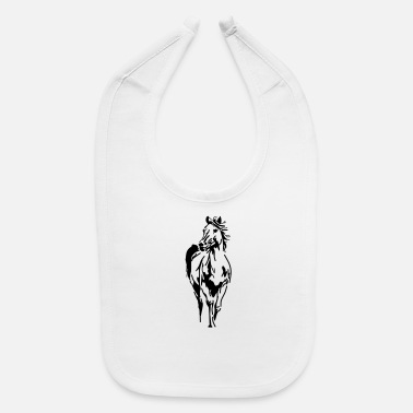 Horse Manure Horse,animal, pet, - Baby Bib