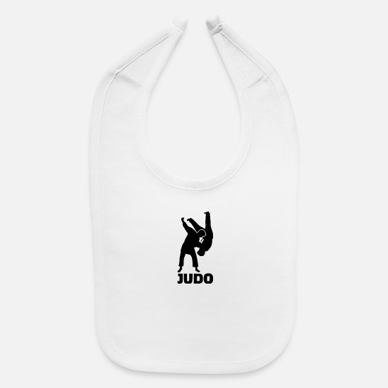 Martial Arts Baby Clothing - judo trick - Baby Bib white