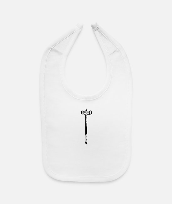 Quote Baby Bibs - War hammer - Baby Bib white