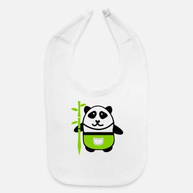 Homeboy panda with bamboo spear - Baby Bib