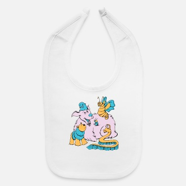 Funny Animals Funny Animals - Baby Bib