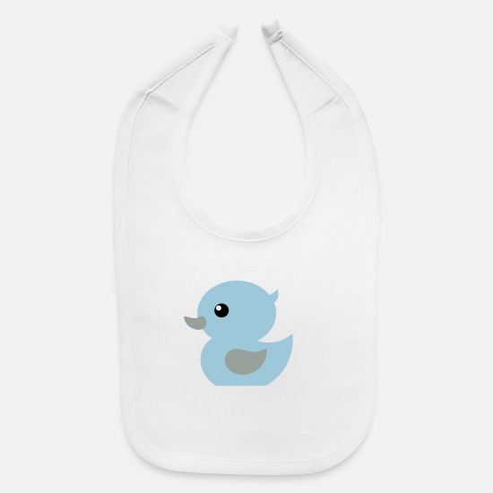 Boy Baby Clothing - baby duck gift idea boy or girl - Baby Bib white