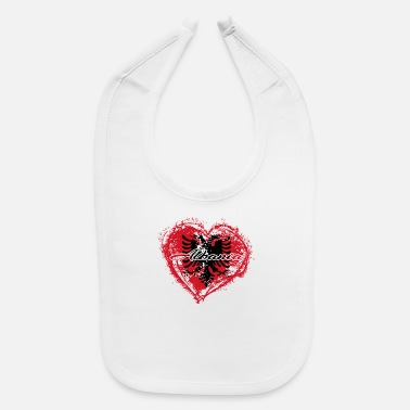 HOME ROOTS COUNTRY GIFT LOVE Albania - Baby Bib