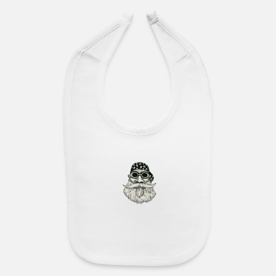 New York Baby Clothing - New York Beard Gang - Baby Bib white