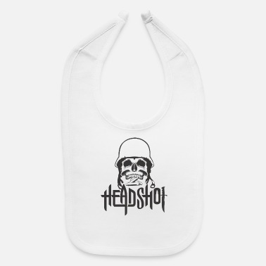 Shot head shot - Baby Bib