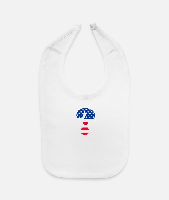 Brand Baby Bibs - Flag Question Mark T-shirt - Baby Bib white