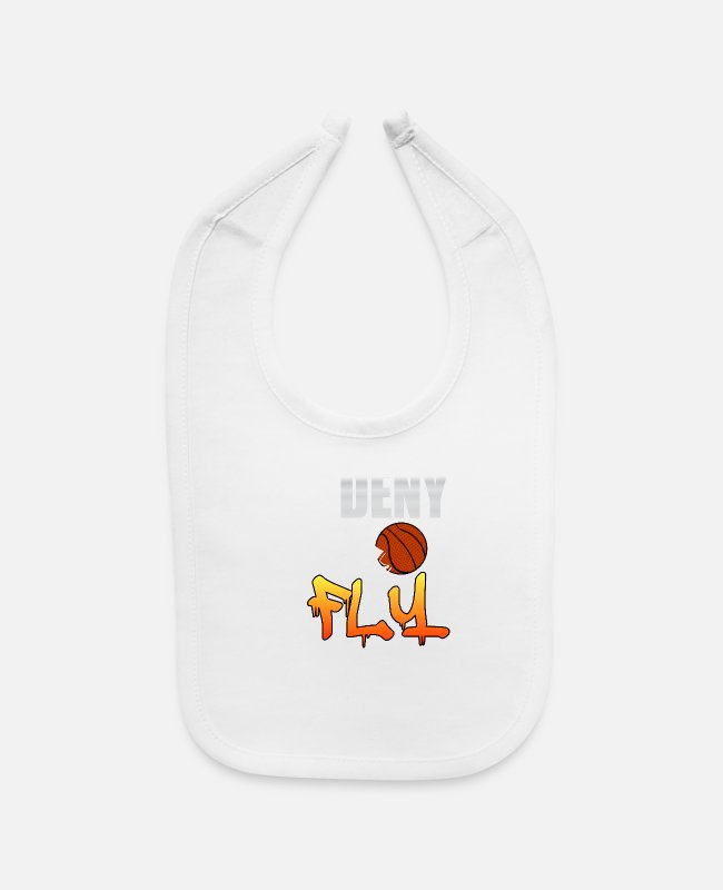 Wing Baby Bibs - Deny and Fly tee design. Not just for basketball - Baby Bib white