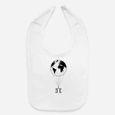 Draw Fly away - Travel and explore the earth - Baby Bib