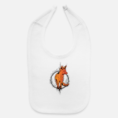 Fiery Fox Circle - Baby Bib