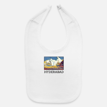 Hyderabad Hyderabad City Skyline Art Sights Landmark - Baby Bib