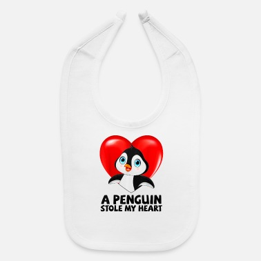 November Born Facts A Penguin Stole My Heart Valentine's Day Gift Woma - Baby Bib